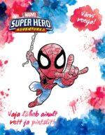 Spiderman. Värvi veega!-0
