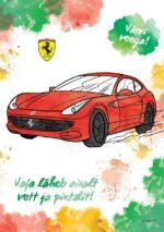 Ferrari. Värvi veega-0